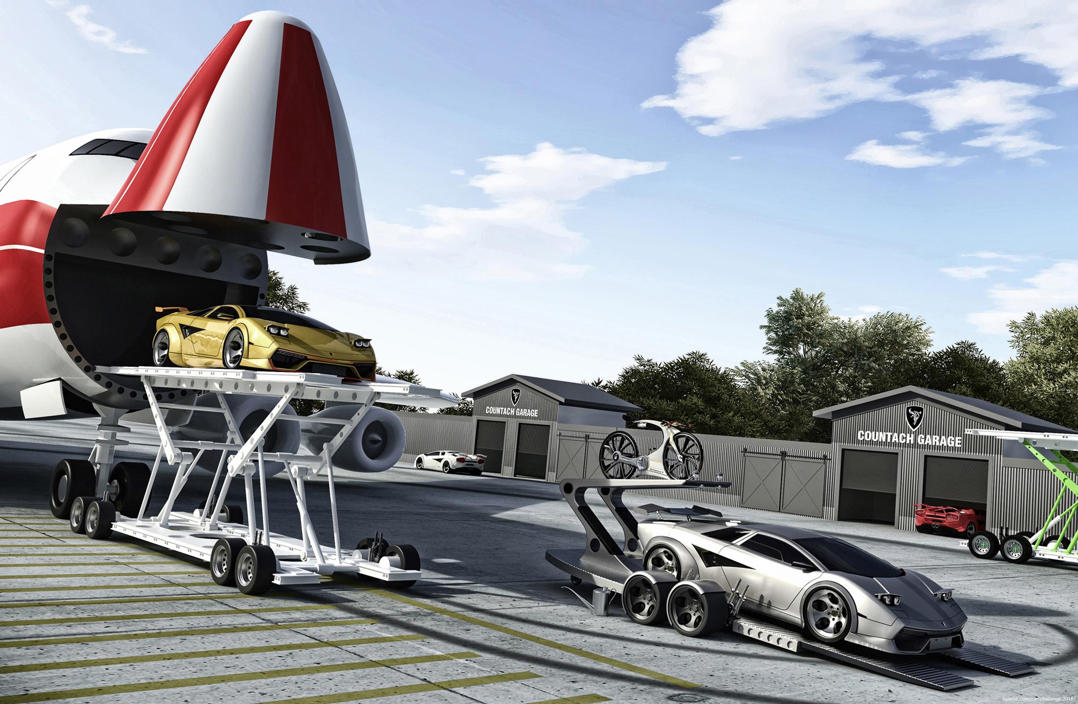 Car Garage 3d art