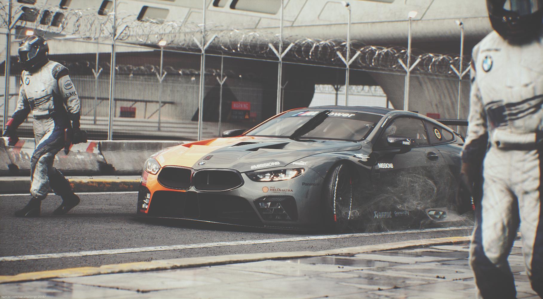BMW M8 GTE 3d art