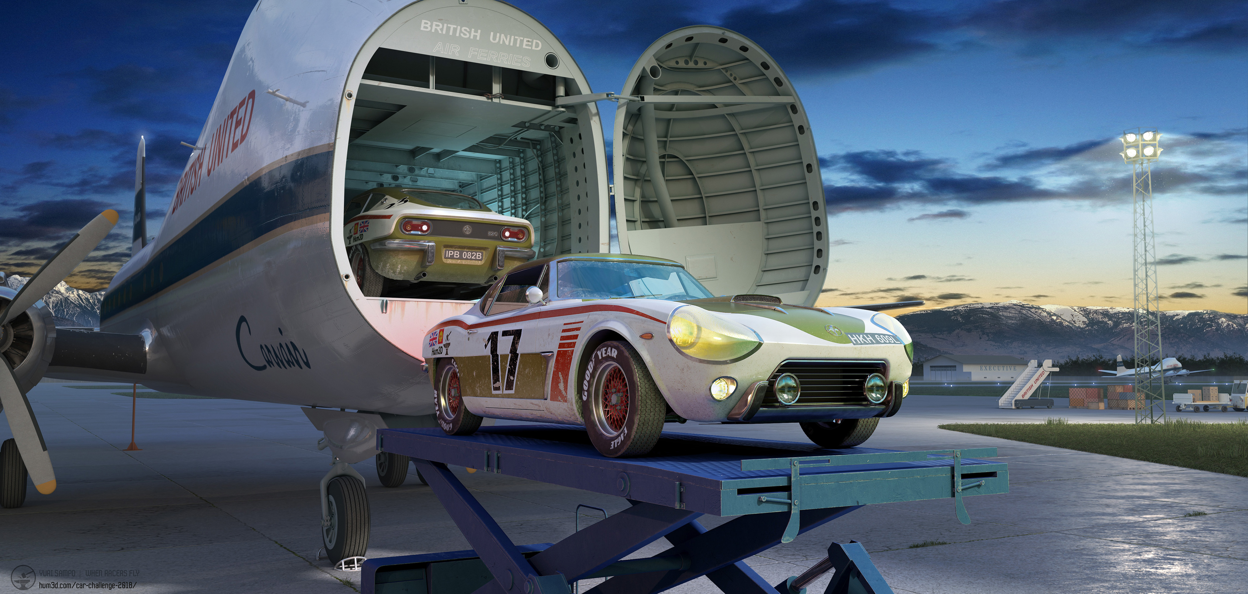 When racers fly 3d art