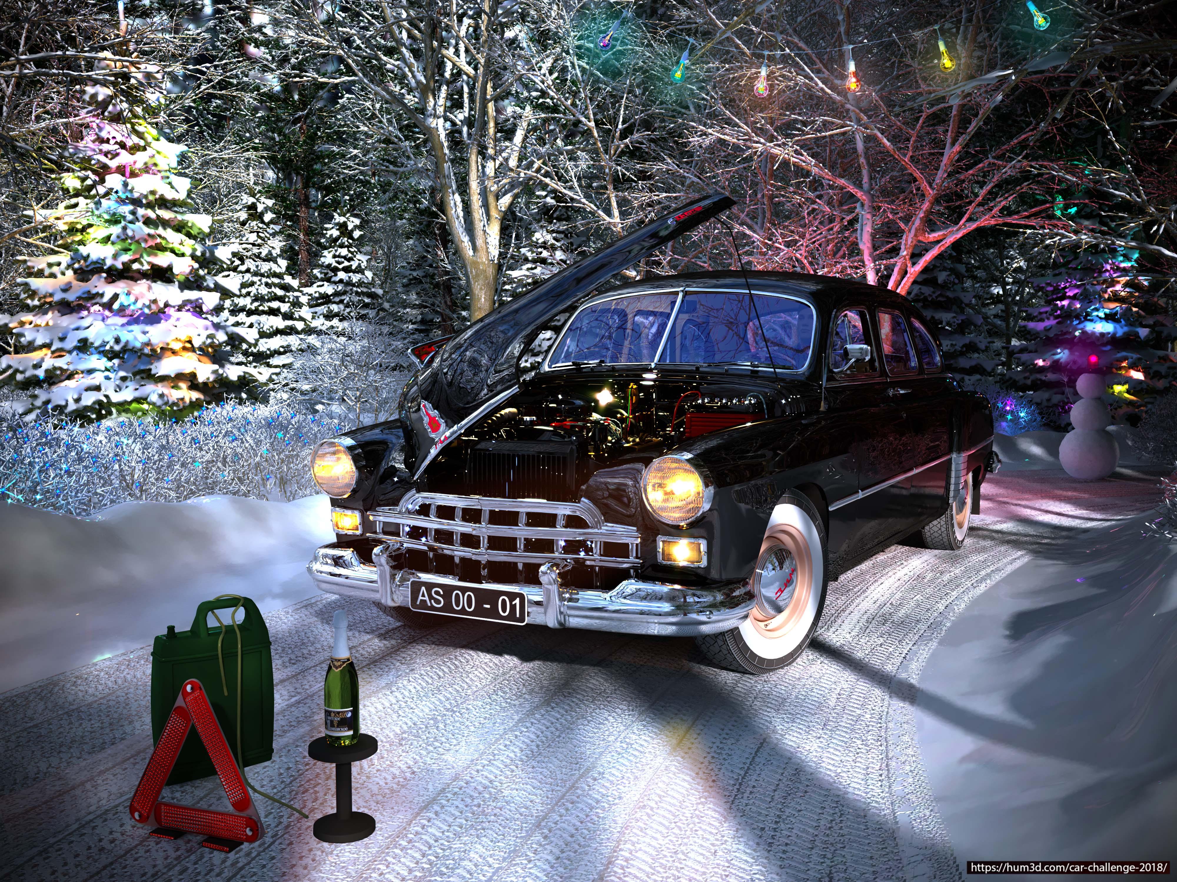 ZIM GAZ12 3d art