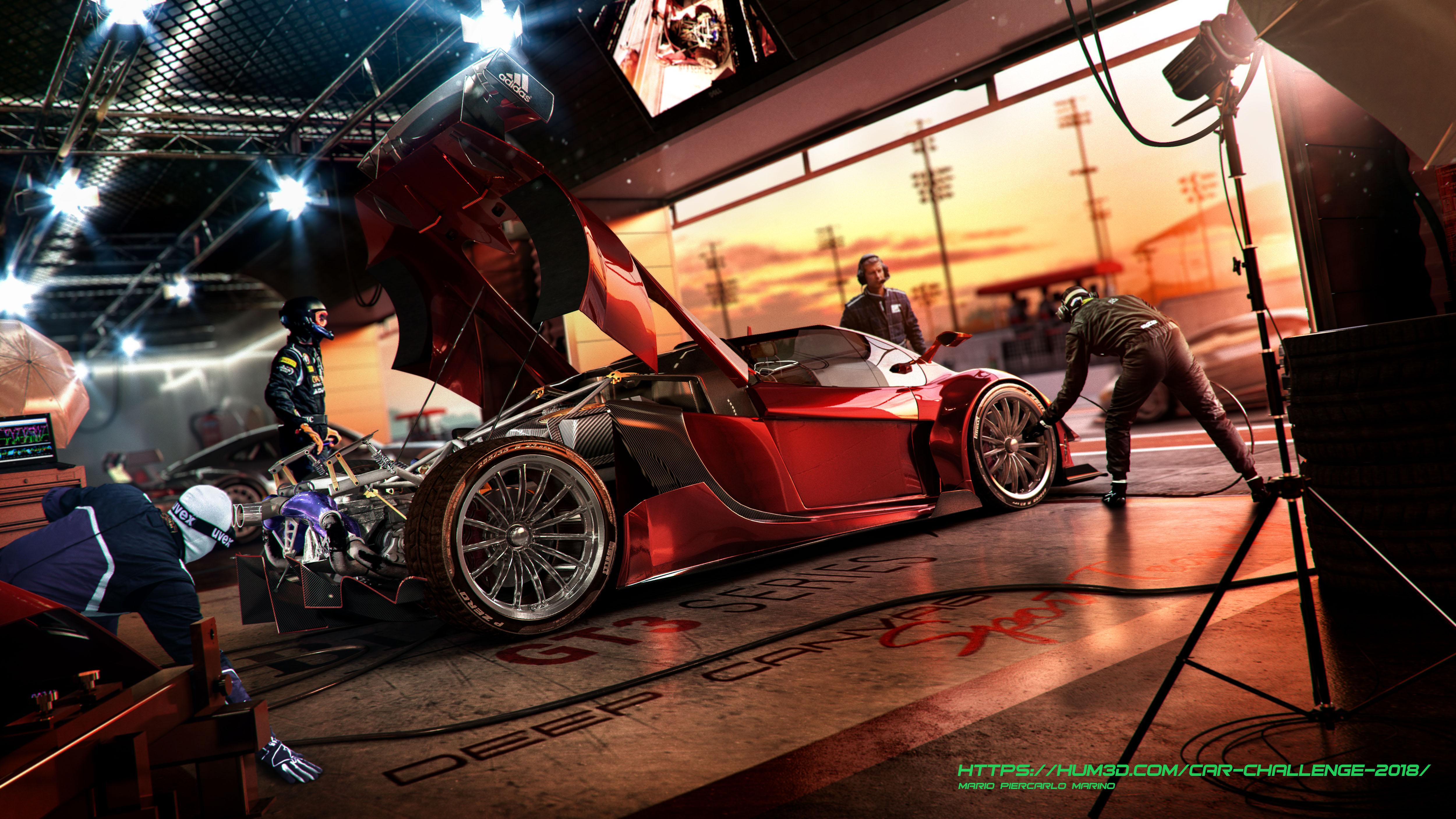 Amber Roadster 3d art
