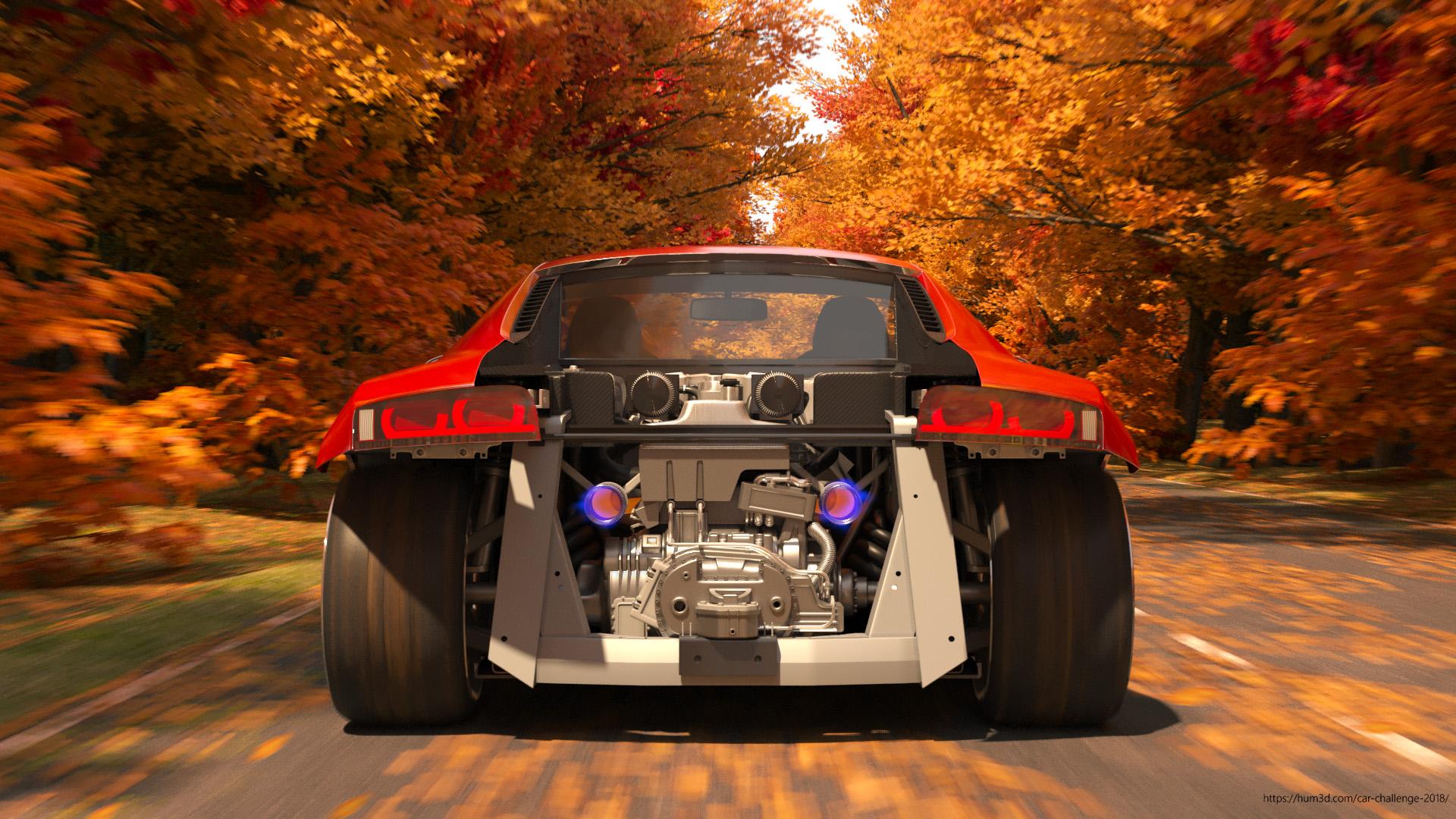 Audi R8 3d art