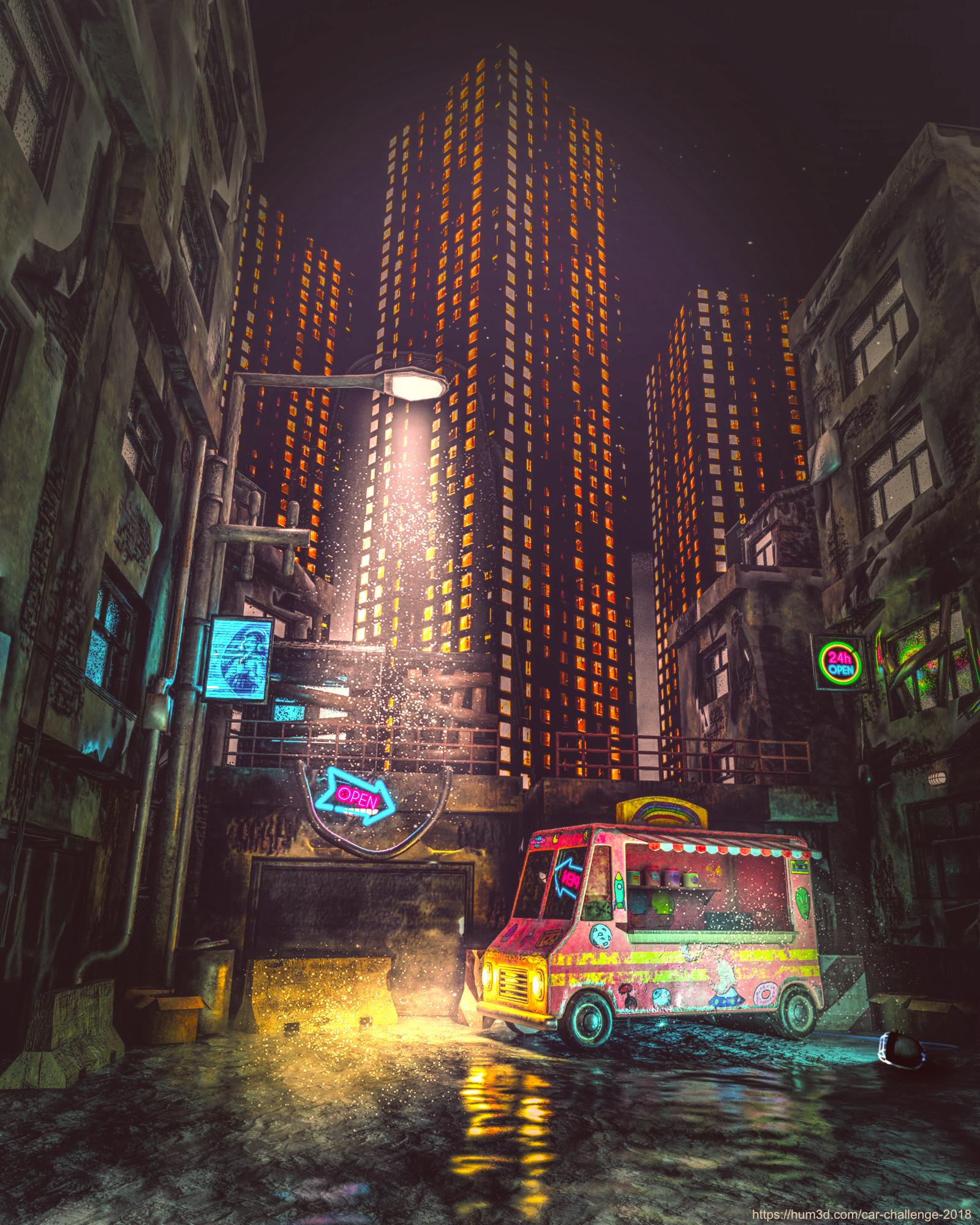 Back of the City 3d art