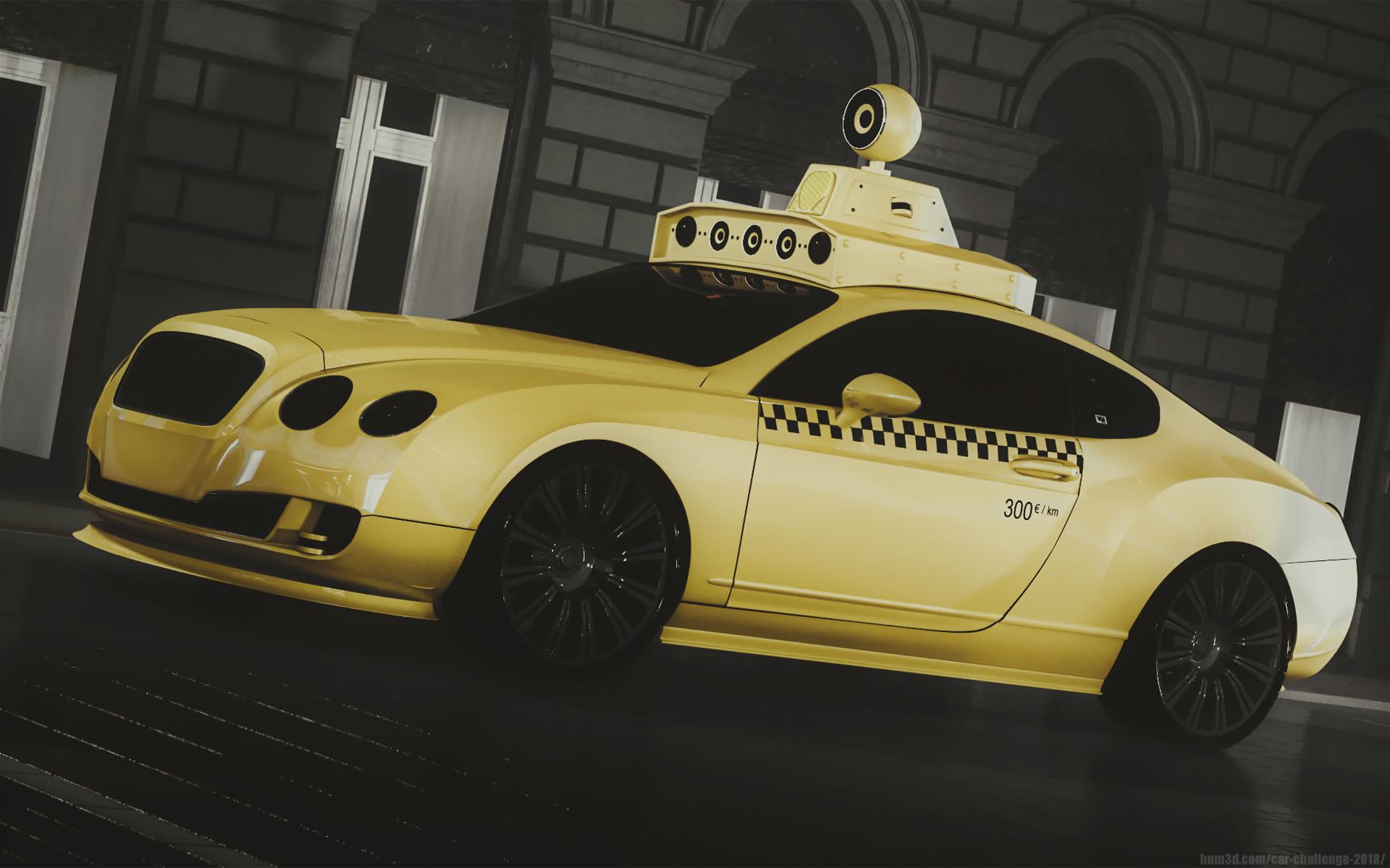 Self Driving Taxi 3d art
