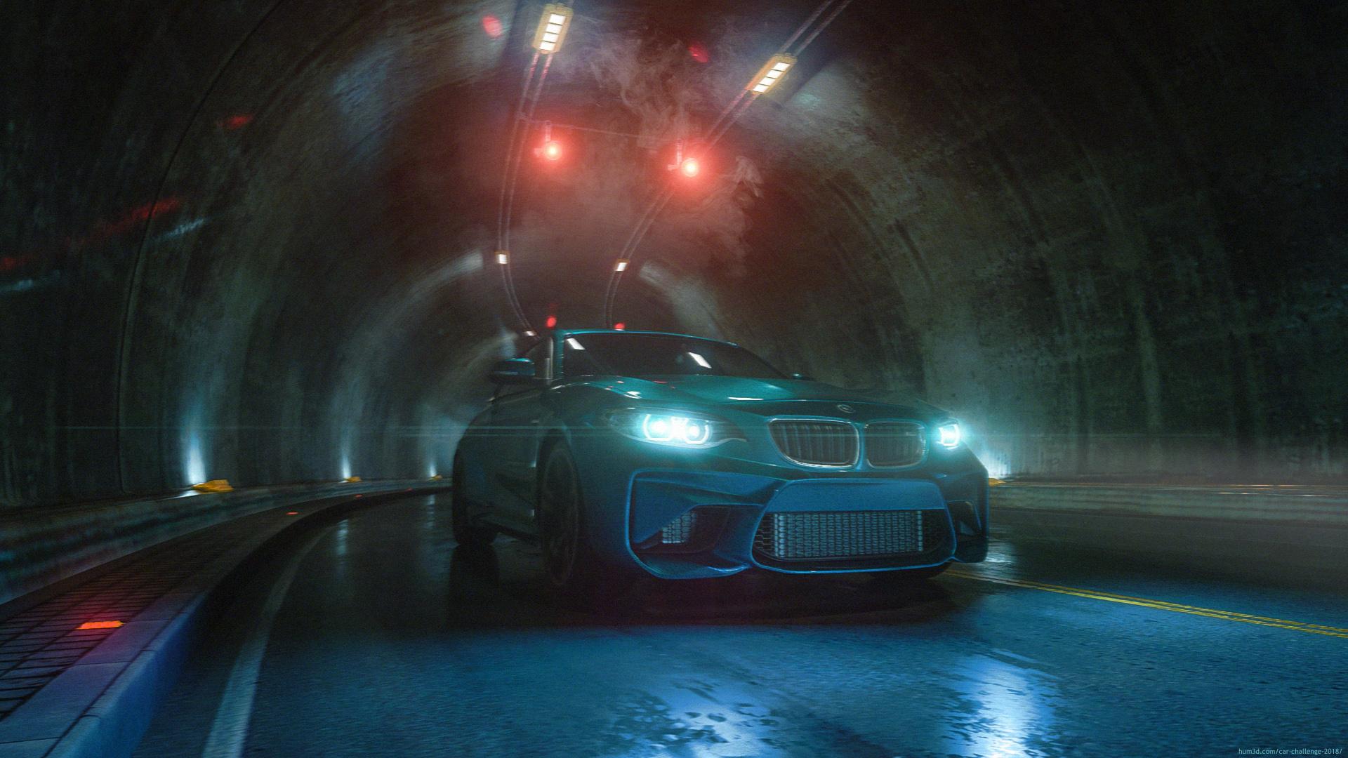 Through the tunnel 3d art