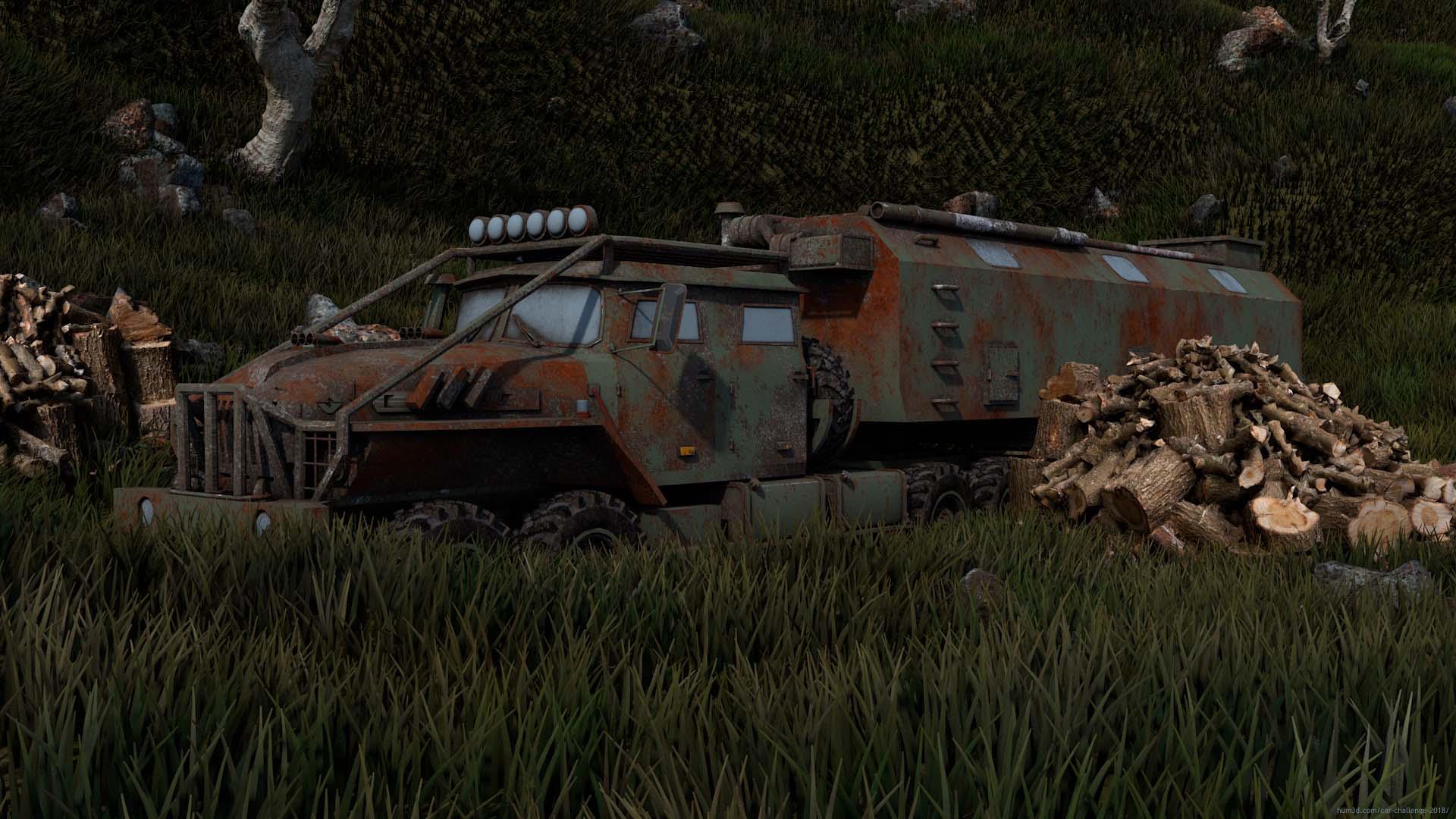 Ural-44202 3d art