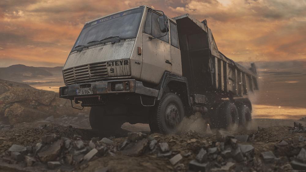 Old Dump Truck by Michal Mierzejewski