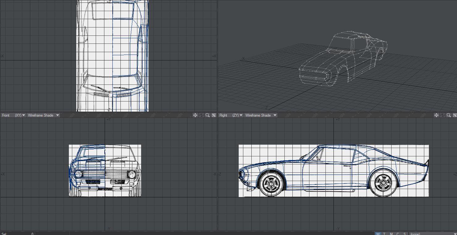 Car was modeled in lightwave