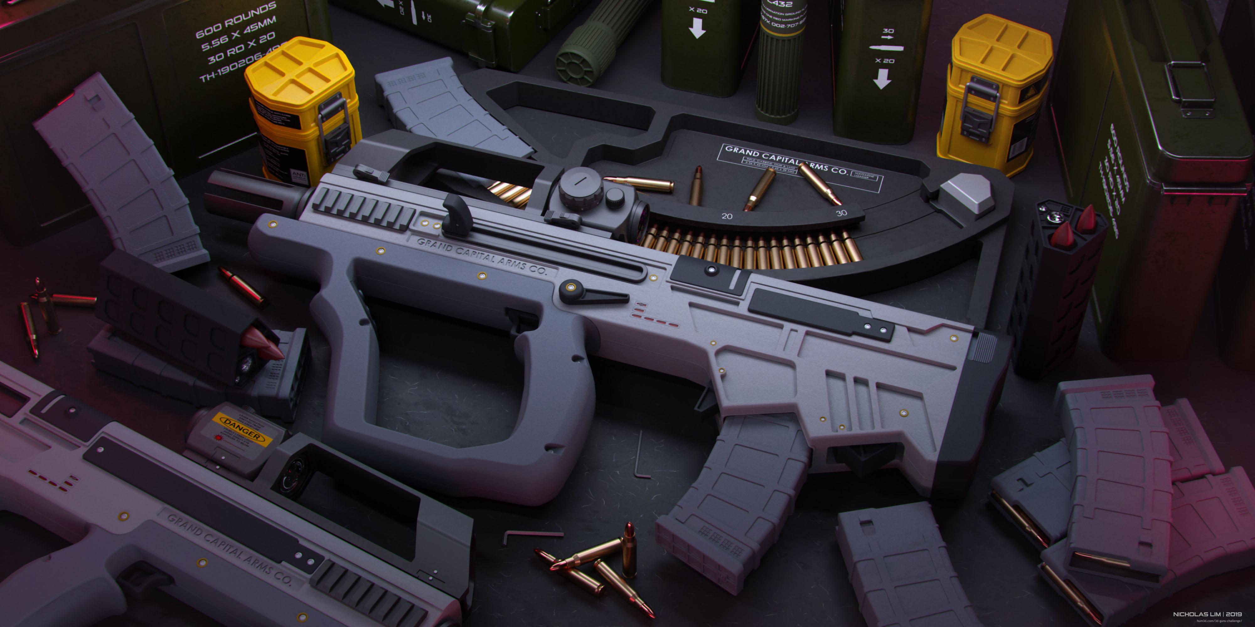 Short Bow Carbine 3d art
