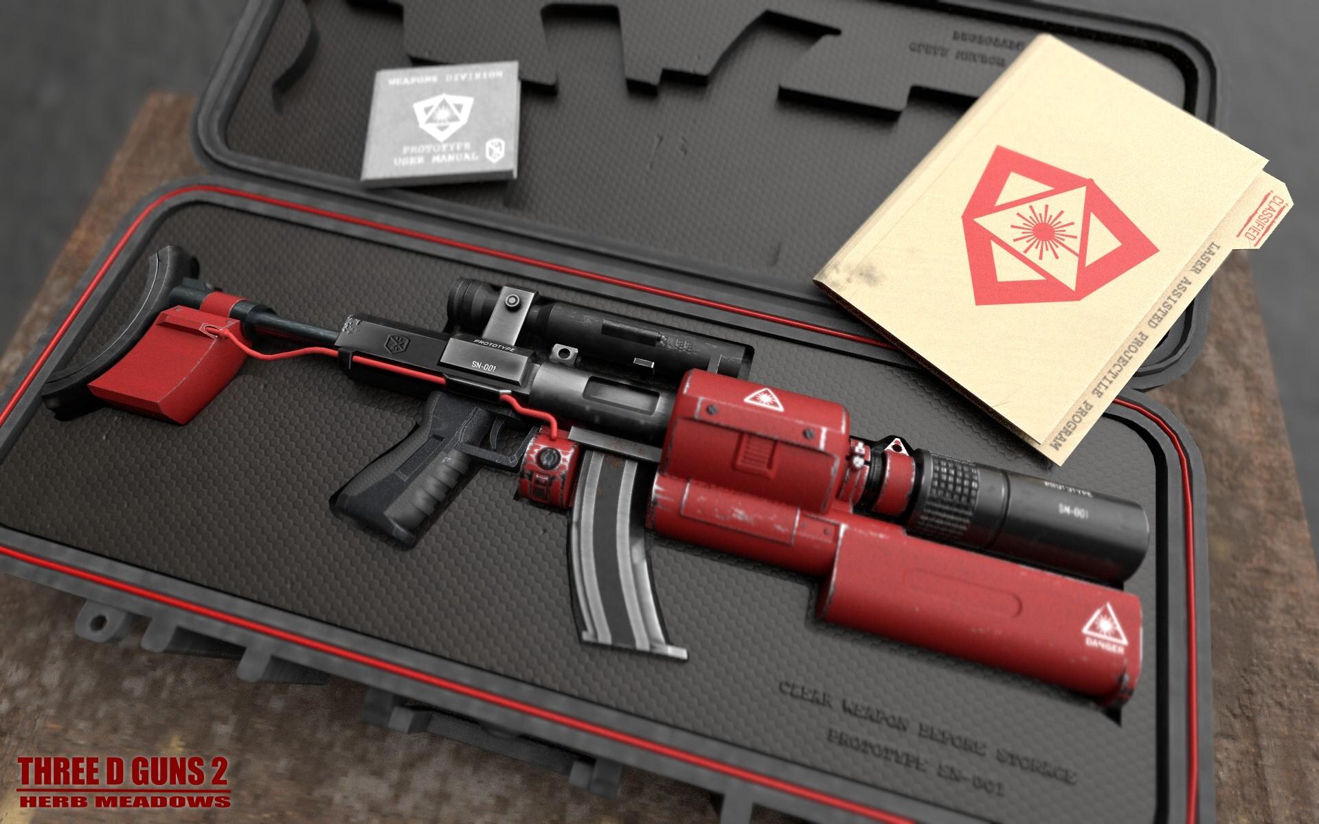 Laser Pulse Rifle 3d art