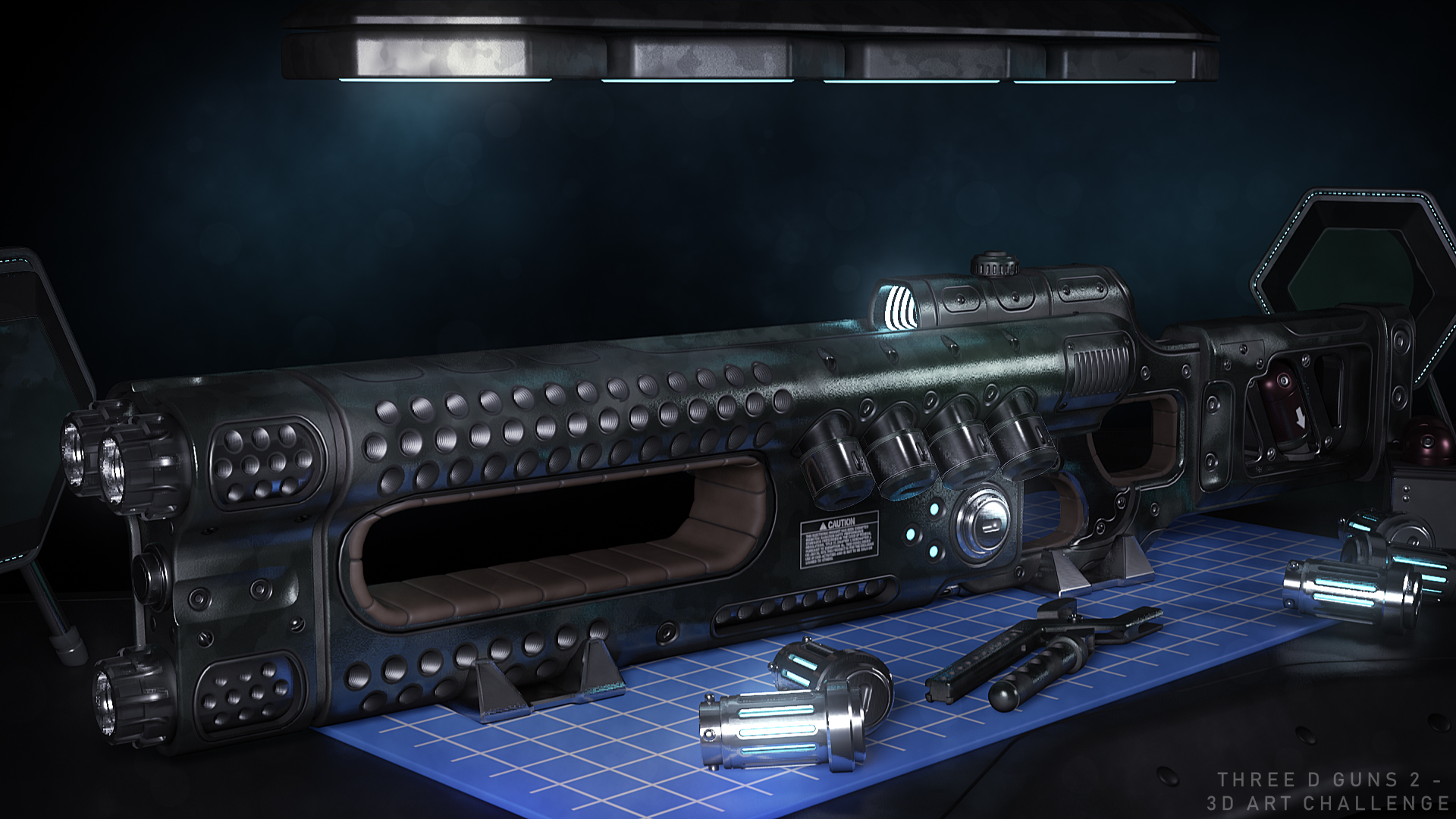 UltraTech SciFi Blaster 3d art