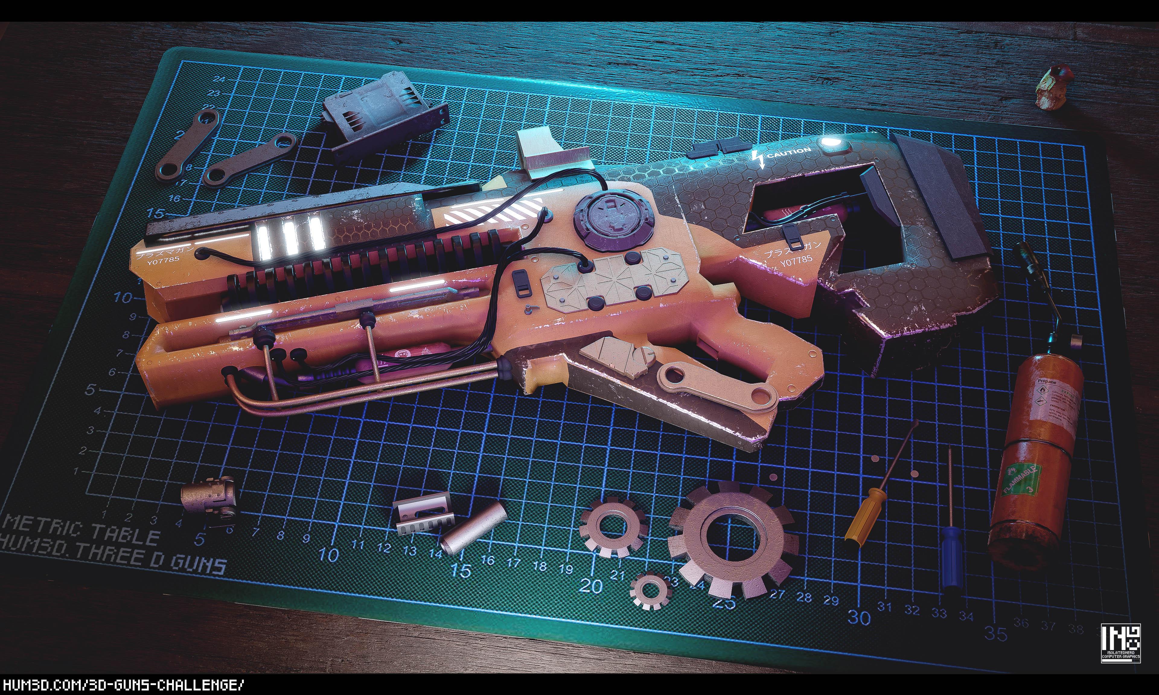 Work Bench - Customized Weapon 3d art
