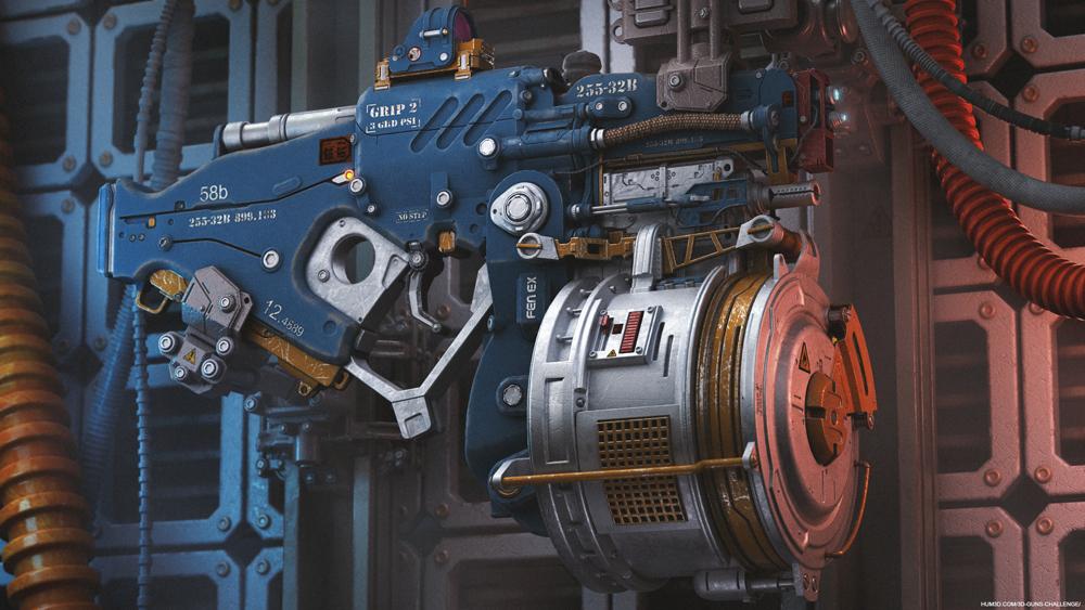 Sci-fi laser gun by Kolya Ogre
