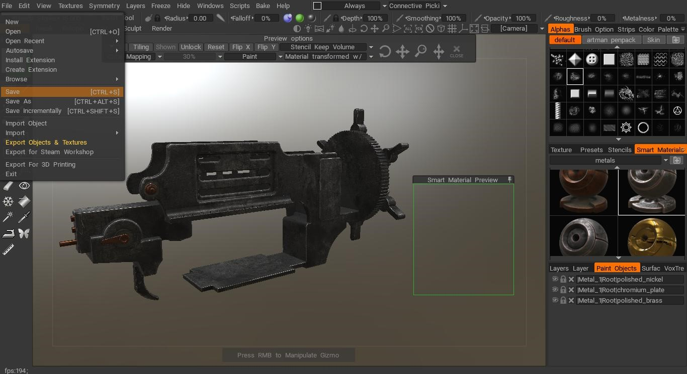 texturing in 3D Coat