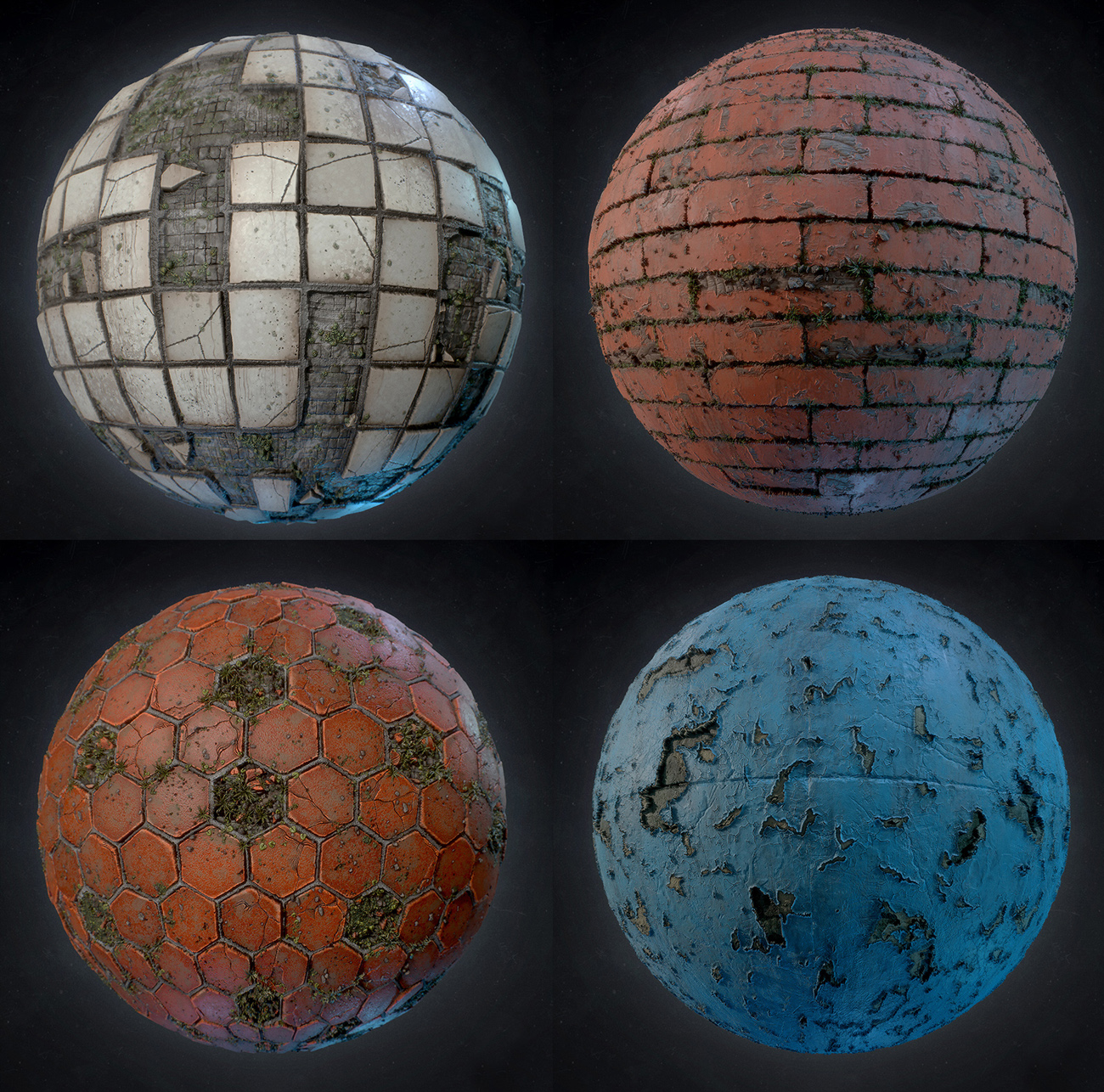 Creating different materials for background elements