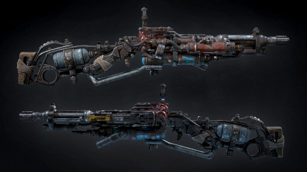 Weapon texturing