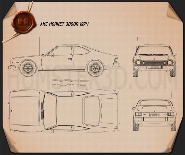 AMC Hornet 3-door 1974 Blueprint