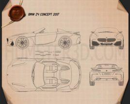 BMW Z4 concept 2017 Blueprint