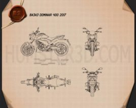 Bajaj Dominar 400 2017 Blueprint