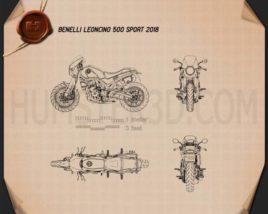 Benelli Leoncino 500 Sport 2018 Blueprint