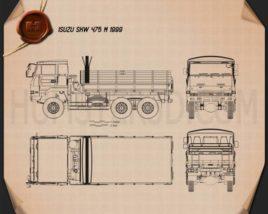 Isuzu SKW 475 M 1999 Blueprint