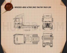 Mercedes-Benz Actros Tractor Truck 2011 Blueprint