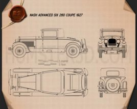 Nash Advanced Six 260 coupe 1927 Blueprint