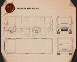 PAZ Vector Next Bus 2017 Blueprint