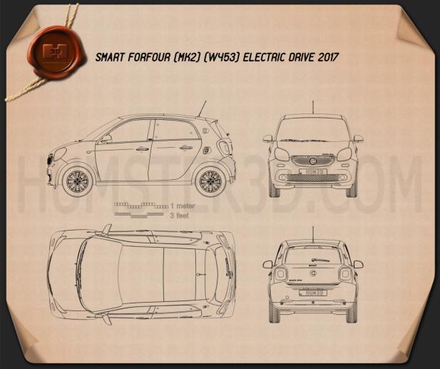 Smart ForFour Electric Drive 2017 Blueprint
