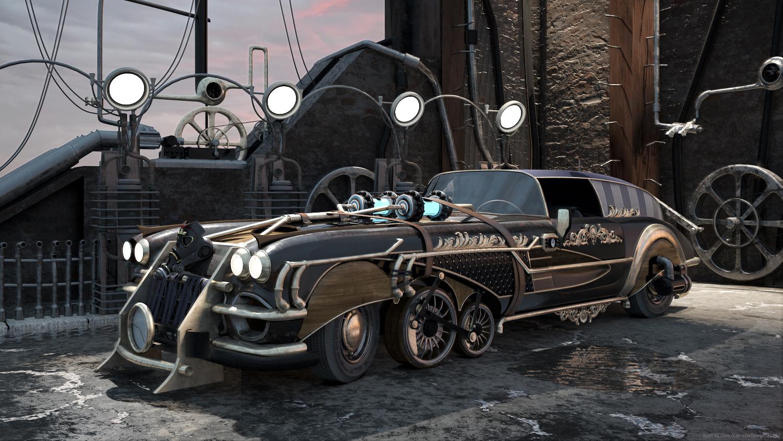 Steampunk is Back 3d art