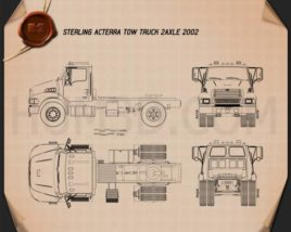 Sterling Acterra Tow Truck 2-axle 2002 Blueprint