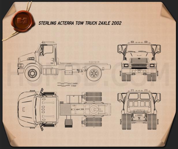 Sterling Acterra Tow Truck 2-axle 2002 Blueprint