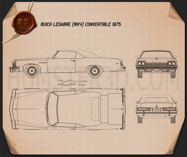 Buick LeSabre convertible 1975 Blueprint