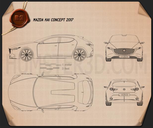 Mazda Kai 2017 Blueprint