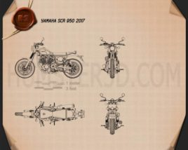 Yamaha SCR 950 2017 Blueprint