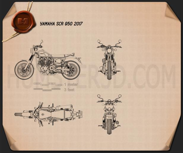 Yamaha SCR 950 2017 Blueprint
