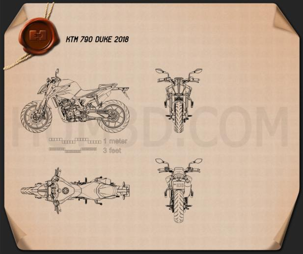 KTM 790 Duke 2018 Blueprint