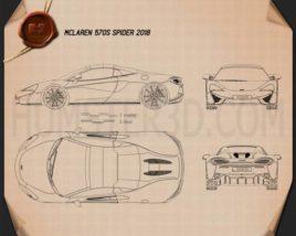 McLaren 570S Spider 2018 Blueprint