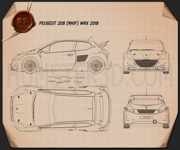 Peugeot 208 WRX 2018 Blueprint