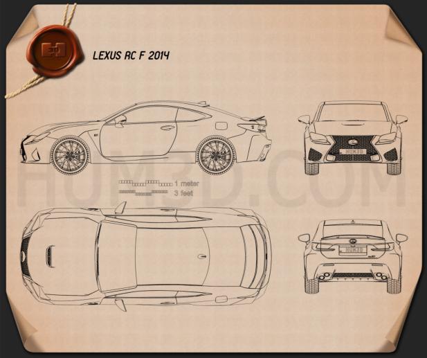 Lexus RC F 2014 Blueprint