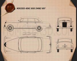 Mercedes-Benz 300d (W189) 1957 Blueprint
