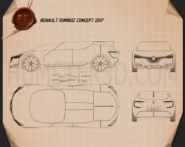Renault Symbioz concept 2017 Blueprint