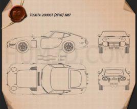 Toyota 2000GT 1969 Blueprint