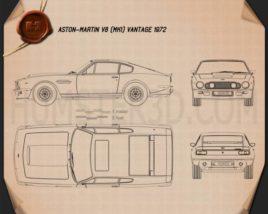 Aston Martin V8 Vantage 1972 Blueprint