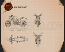 BMW G310R 2017 Blueprint