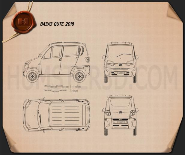 Bajaj Qute 2018 Blueprint