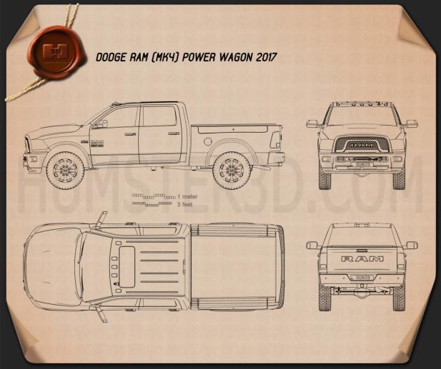 Dodge Ram Power Wagon 2017 Blueprint
