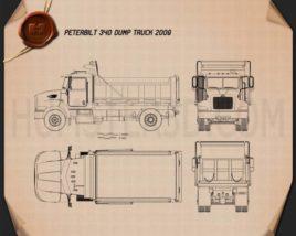 Peterbilt 340 Dump Truck 2009 Blueprint