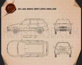 VAZ Lada Granta Cross 2019 Blueprint