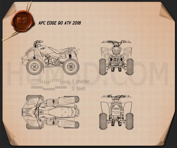 APC Edge 90 ATV 2018 Blueprint